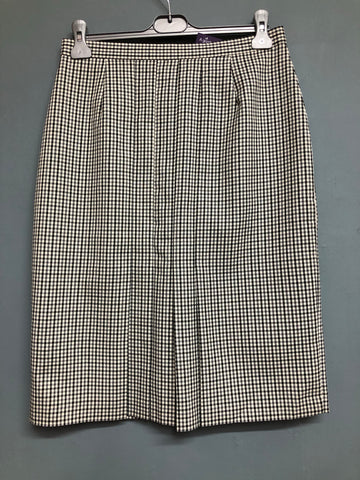 Marks and Spencer Pleated Dogtooth Skirt Size 12