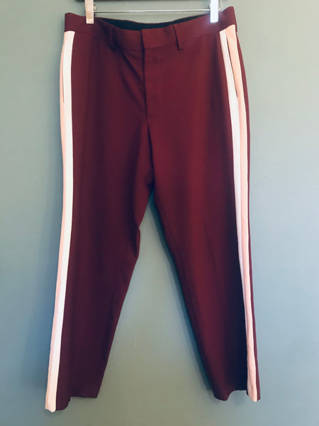 Burgundy Sport Tailored Trouser 12
