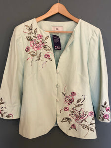 Mint Green Embroidered Jacket 14