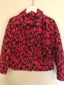 Pink and Black Printed Vintage Jacket 14