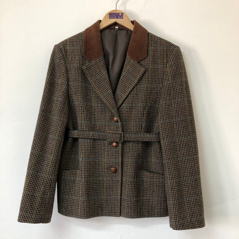 Ladies Equorian Multi Coloured Tweed Jacket Size 14