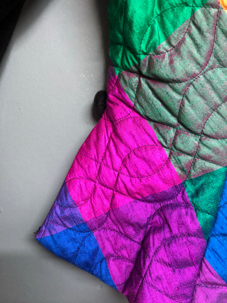 Technicolour Quilted Jacket Size 12