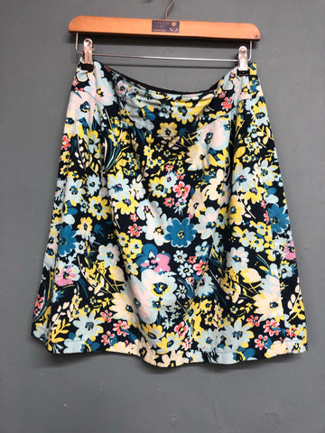 Fat Face Floral Skirt Size 12