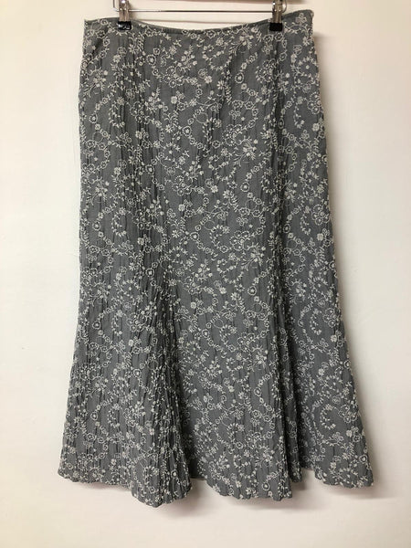 Long Grey and White Per Una Skirt Size 14
