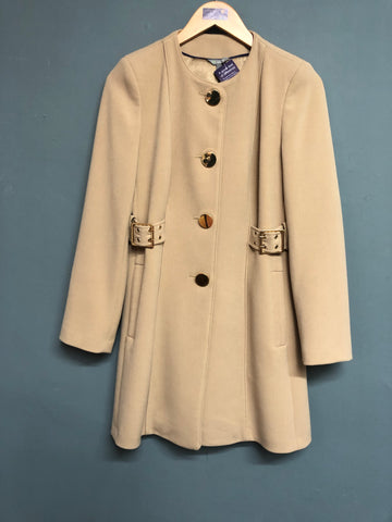 M&S Camel Long Coat Size 8