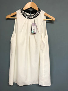 Coast Cream Top with Embellishment BNWT Size 10