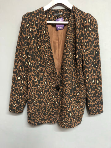 Next petite Animal Print Jacket Size 14