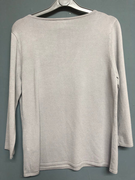 Jacques Vert Grey Knitted Jumper Size S