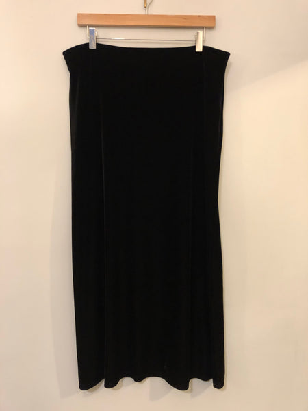 Black Velour Maxi Skirt 16