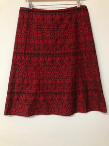 Red A-Line Monsoon Skirt Size 10