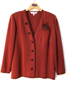 ladies tricoville rust cardigan size 14