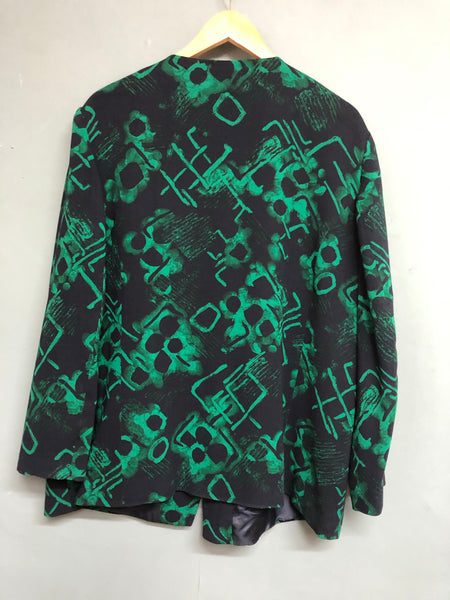 Blue and Green Print Jacket Size 22