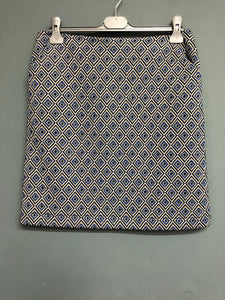 Next Blue Metallic Skirt Size 10