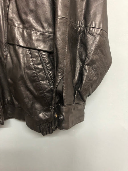 Black Leather Vintage Jacket Size 12