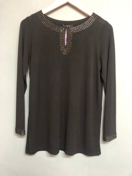 St Michael Black Long Sleeve Top Size 8