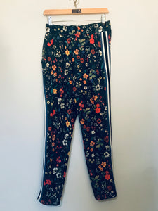 Floral Striped Sporty Trouser S