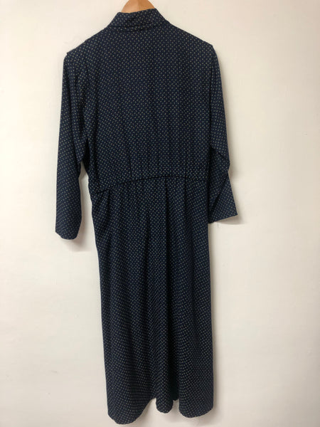 Accolade Vintage Blue Print Dress Size 14