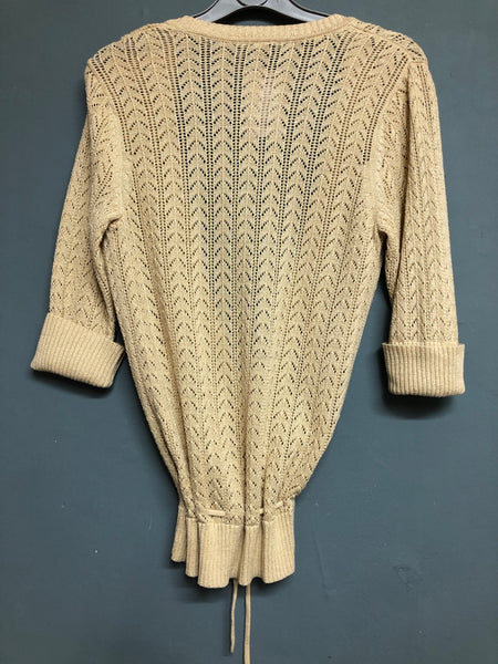 Gap Gold Metallic Mix Tie Cardigan S