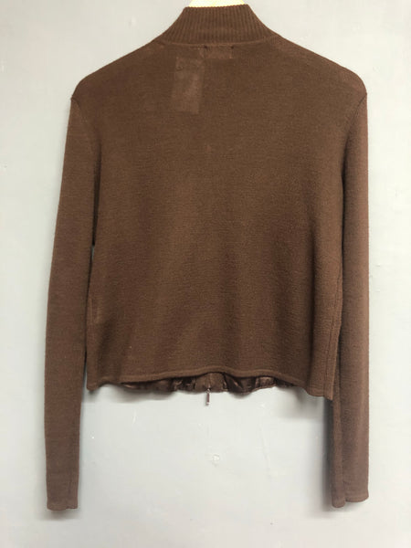 Brown Knitted Top Size 44 UK 18