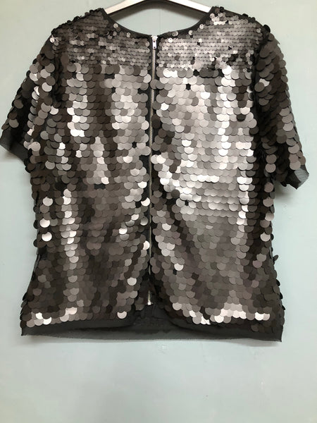 Ladies Michelle Keegan Black Ladies Sequin Top Size 18 BNWT