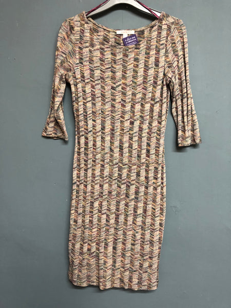 Esprit Knitted Geometric Dress Size S