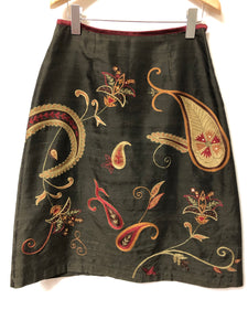 Ladies East Embroidered Skirt Size 10