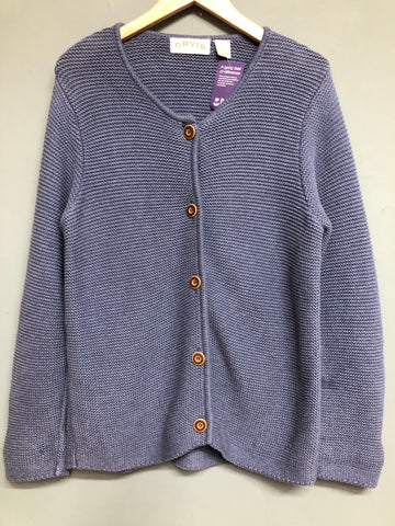 Orvis Blue Buttoned Knitted Cardigan Size L