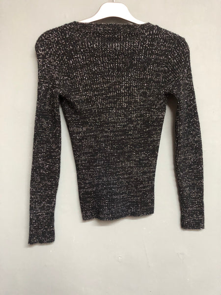 Duke Metallic Knitted Top Size XS