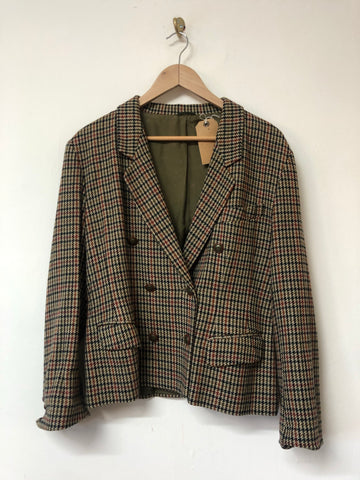 Ladies Houndstooth Blazer Size 14
