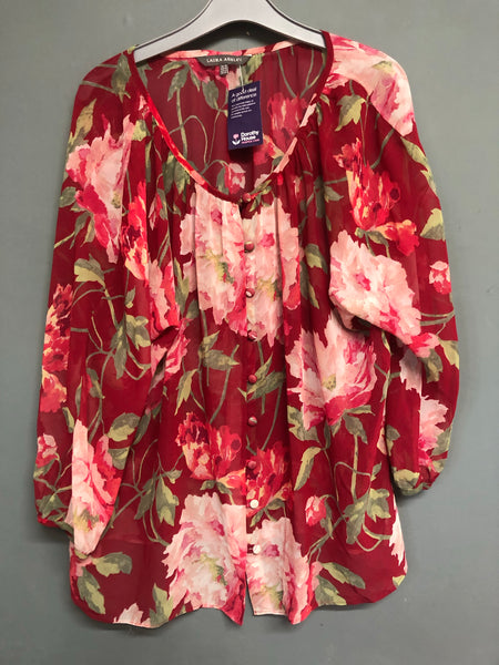Laura Ashley Floral  Top Size 16