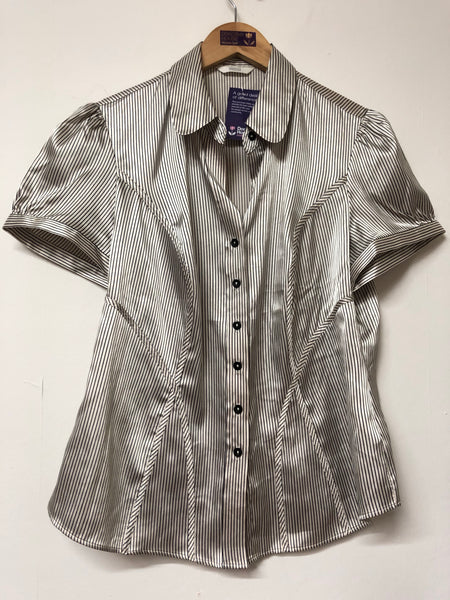 Marks and Spencer Vertical Stripe Shirt Size 16