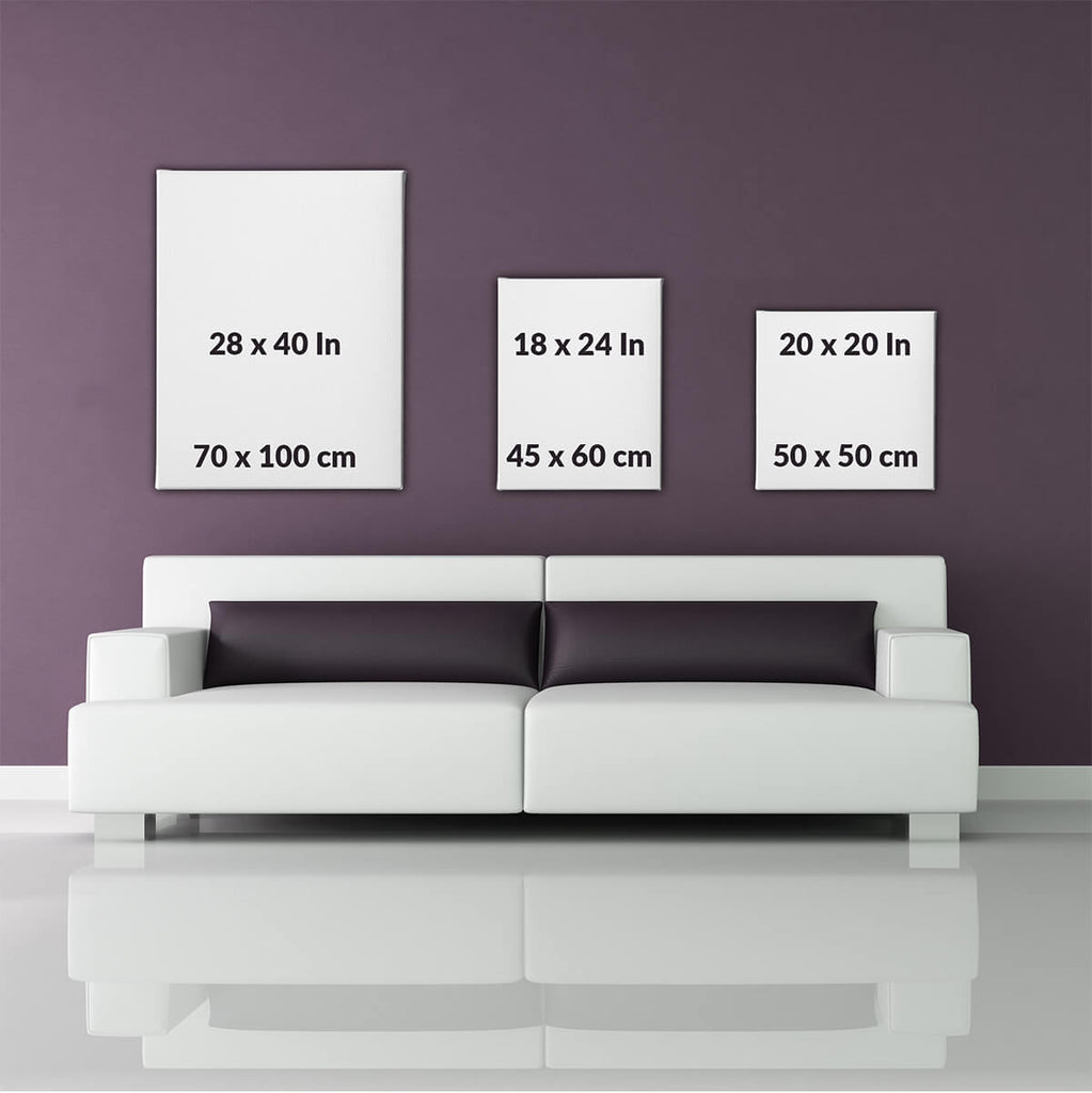 Canvas art size comparison