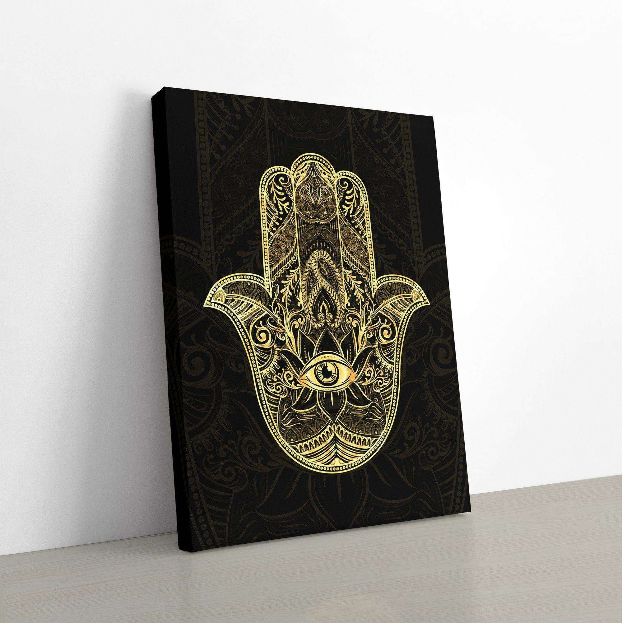 Golden Hamsa Canvas Wall Art