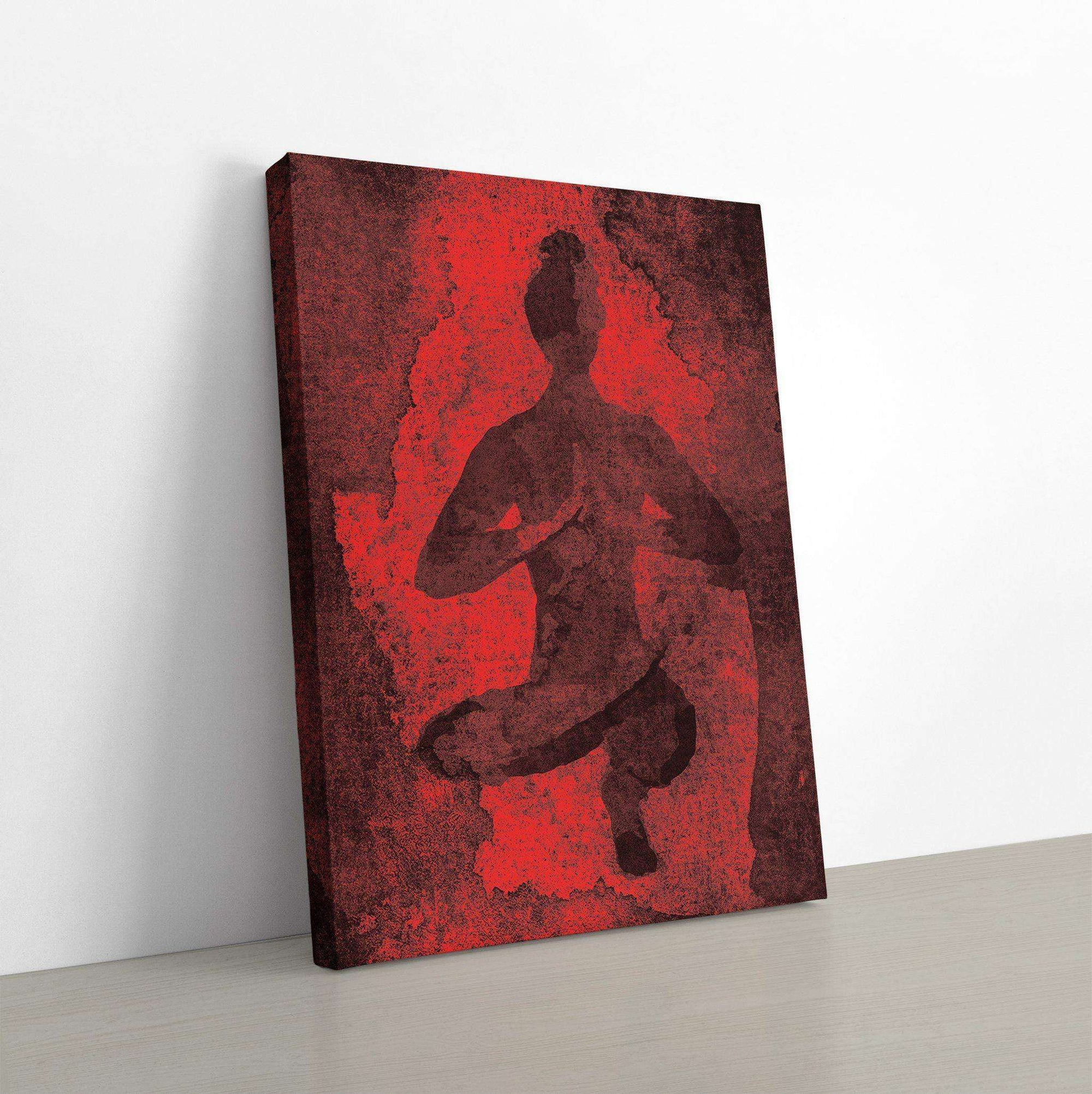 Yoga Abstract Canvas Wall Art
