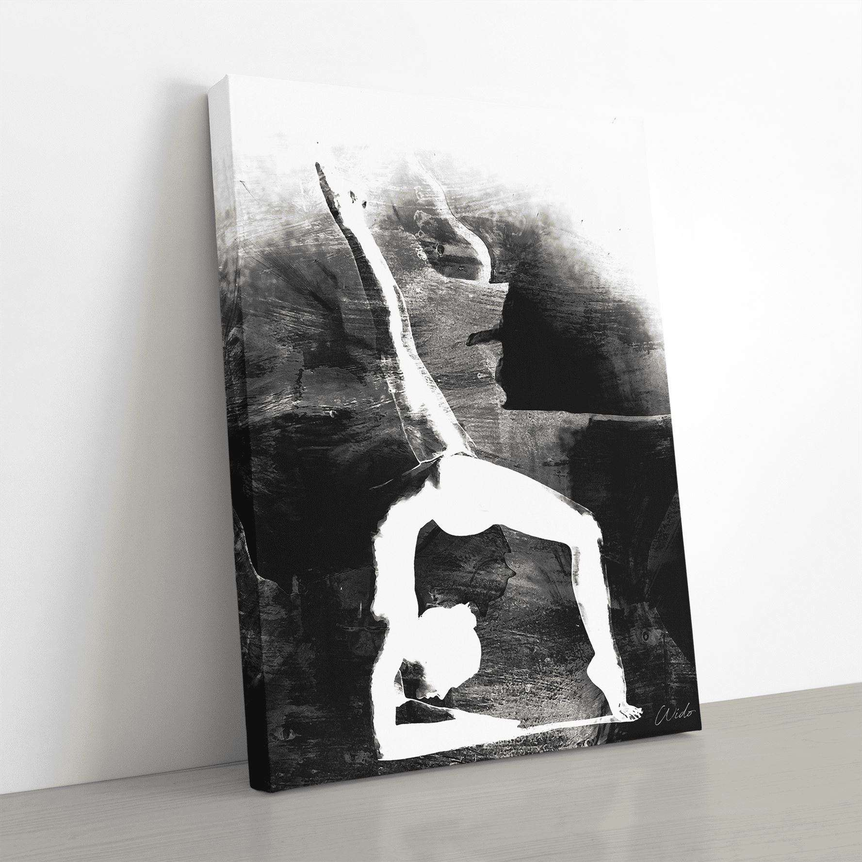 Wheel Pose Canvas Wall Art