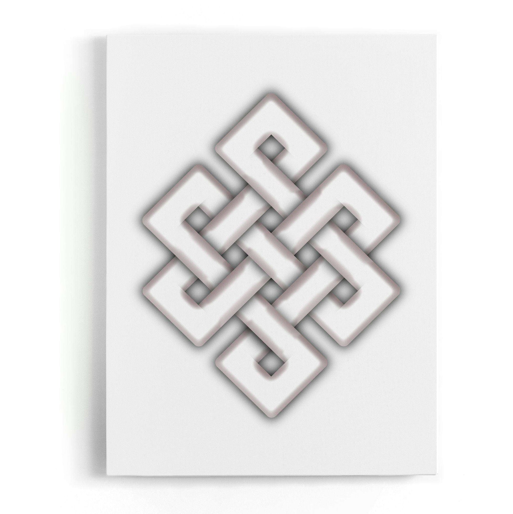 Tibetan Knot Canvas Wall Art