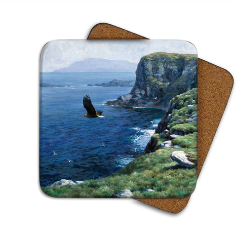 High-Quality White-tailed Eagle Coaster