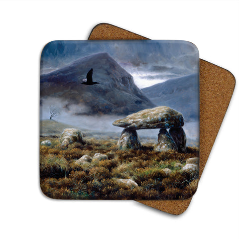 High-Quality Raven Dolmen Coaster