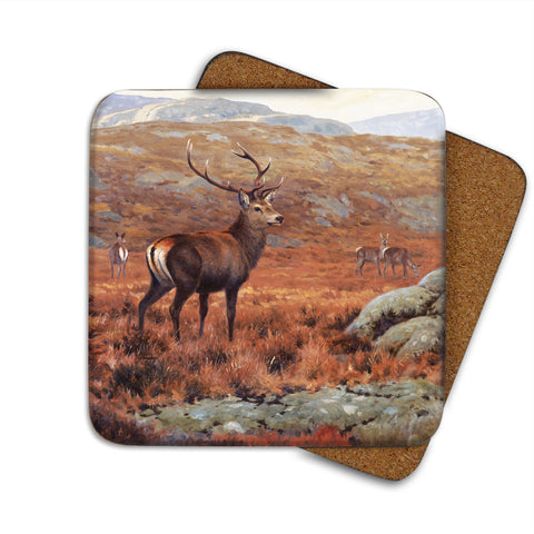High-Quality Highland Stag Coaster