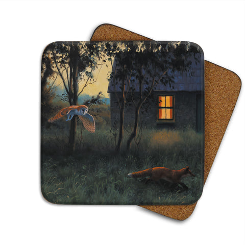 High-Quality Owl and Fox Coaster