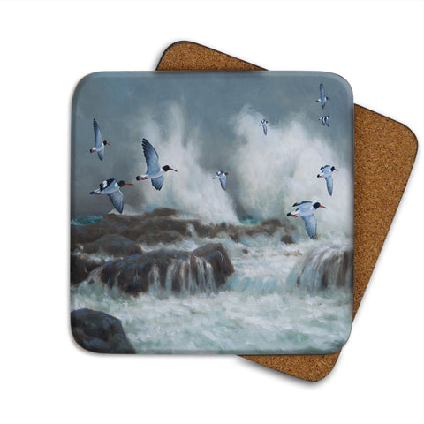 High-Quality Oyster Catchers Coaster