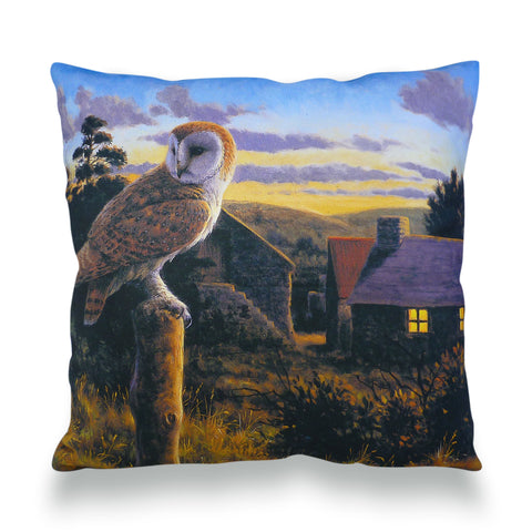 Barn Owl at Dusk Scatter Cushion