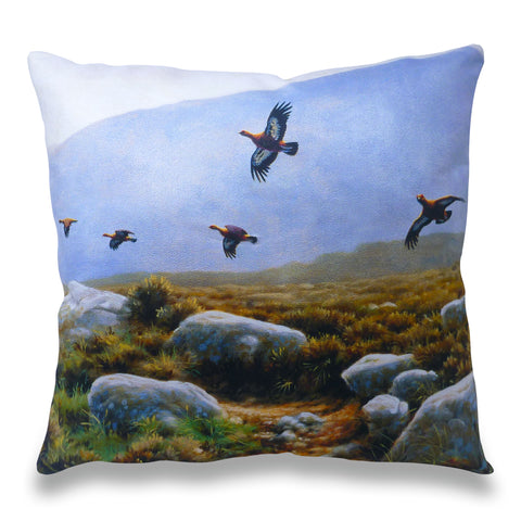 Red Grouse Flight Scatter Cushion