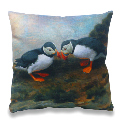 Puffins Beak Bashing Scatter Cushion