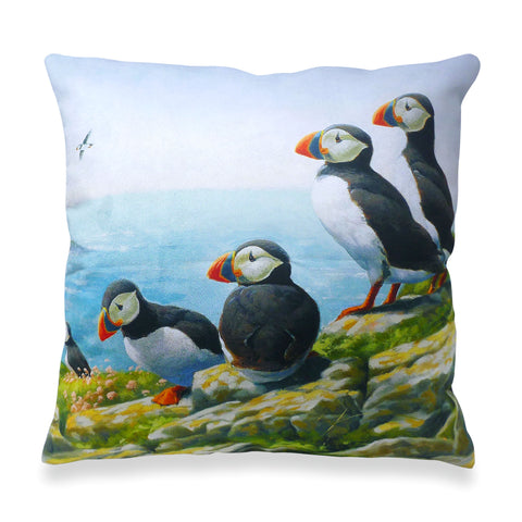 Puffins Roosting Scatter Cushion
