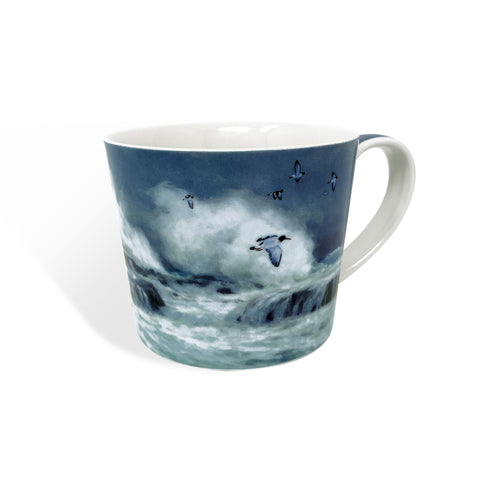 Beautiful Oyster Catchers bone china mug