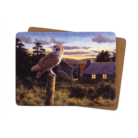 High-Quality Barn Owl at Dusk Placemat