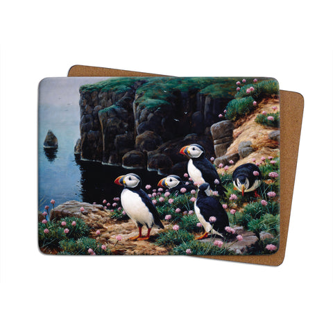 High-Quality Puffins Cliff Edge Placemat