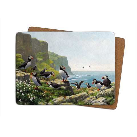 High-Quality Puffins Roosting Placemat