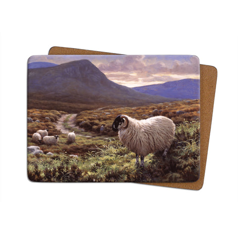 High-Quality Scottish Black Face Sheep Placemat